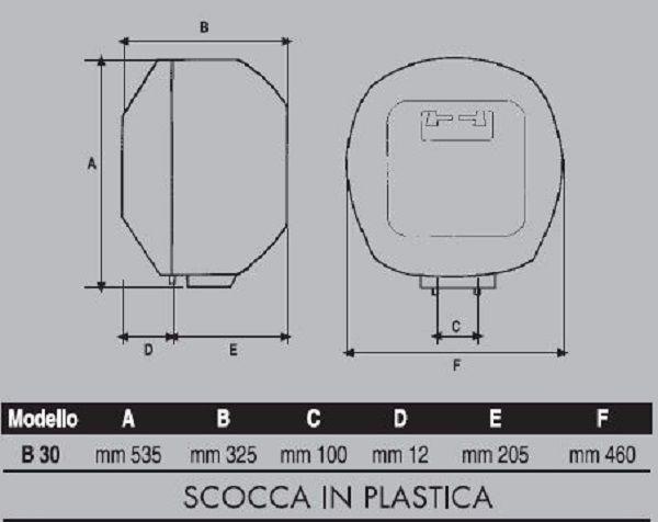 Scalda acqua elettrico capri 30 lt con regolazione for Scalda acqua istantaneo elettrico
