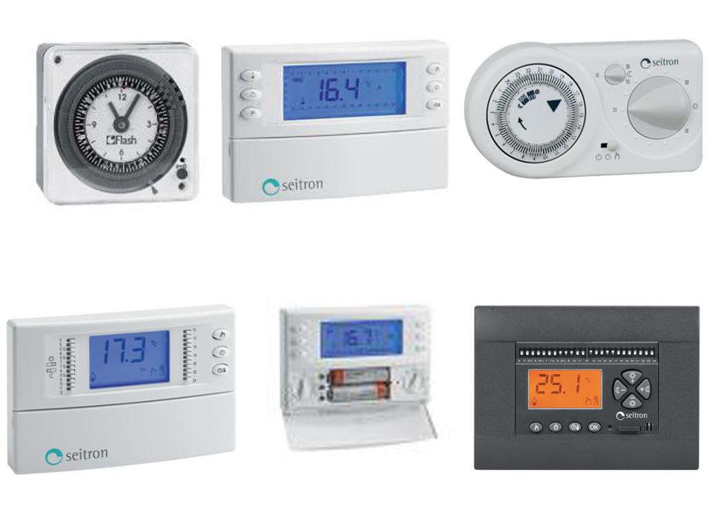 Orologi, Cronotermostati e Termostati Ambiente