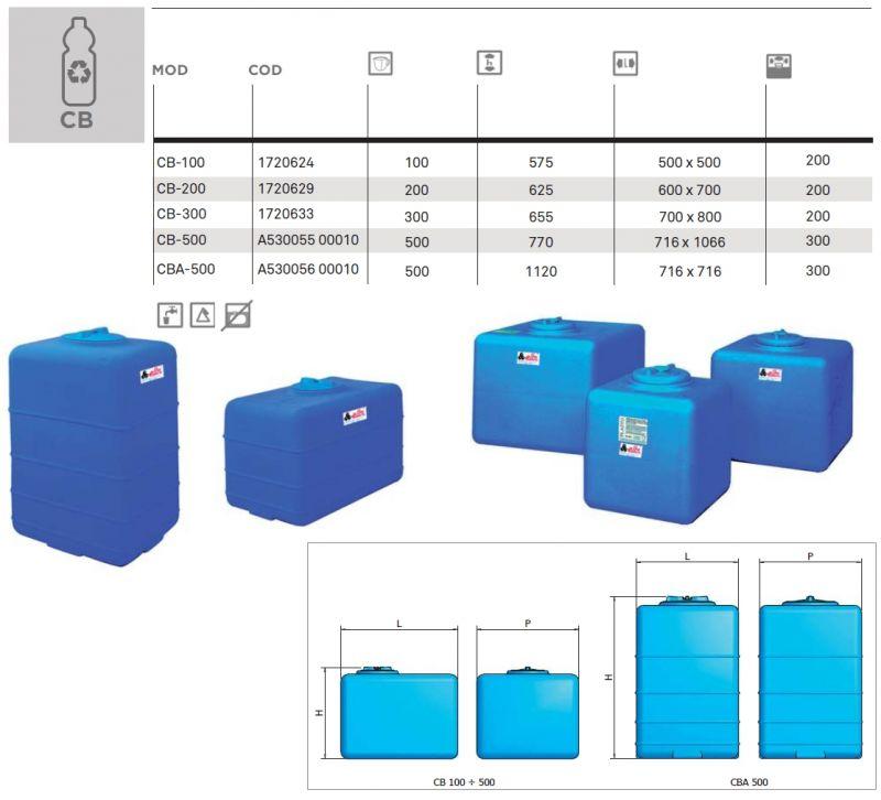 Serbatoio Cubico Lt 100 Elbi