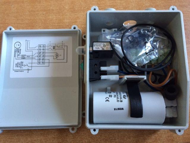 Schema Quadro Elettrico Per Pompa Sommersa Trifase : Quadro elettrico monofase cv.1 con condensatore 30 micro farad e termico